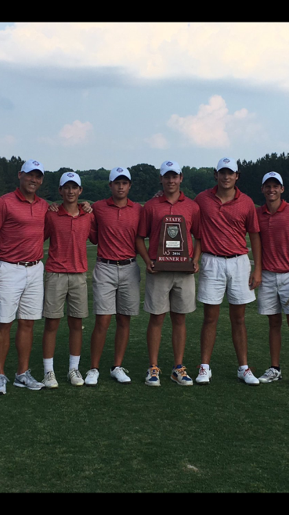 The Trinity boys golf team finishes runner-up in Class
