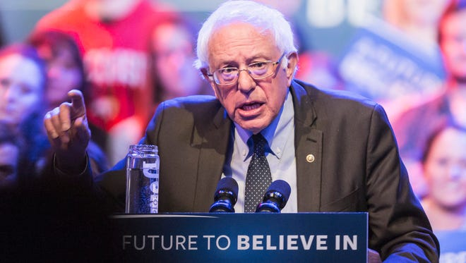 Democratic presidential candidate, Sen. Bernie Sanders, I-Vt.  speaks at a campaign stop, Wednesday, March 30, 2016, in Madison, Wis.