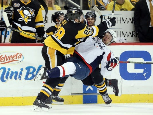 USP NHL: STANLEY CUP PLAYOFFS-WASHINGTON CAPITALS S HKN PIT WSH USA PA