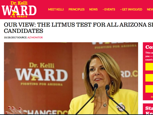 Kelli Ward screenshot