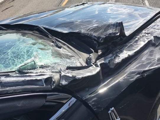 Trinity Brady was involved in a car accident on Feb.