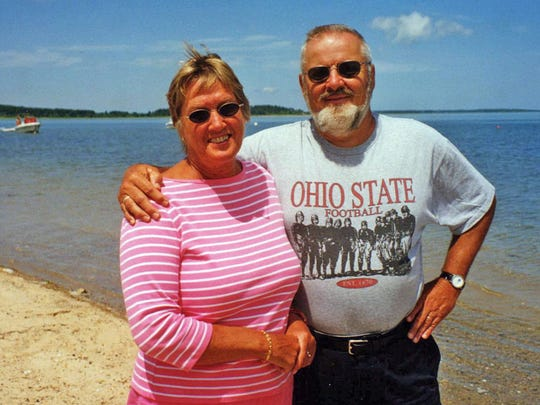 Gesa and John Valk at Cape Cod, where they vacationed every summer.
