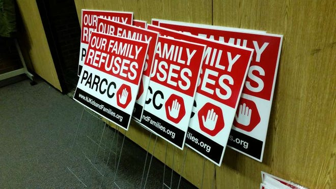 Posters available in 2016 for families that wished to have their students opt out of the PARCC test.