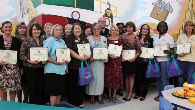 Twelve Southwest Florida day care representatives gathered to celebrate earning Asthma-Friendly recognition with the help of the Lee Memorial Health System Asthma Management Program.