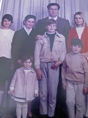The family Bozzo in 1971 when they immigrated to America from Italy. Top row, left to right Maria, Angelina and Luigi (Gino) and Gina. Bottom row, Ana, Frank and Ralph.