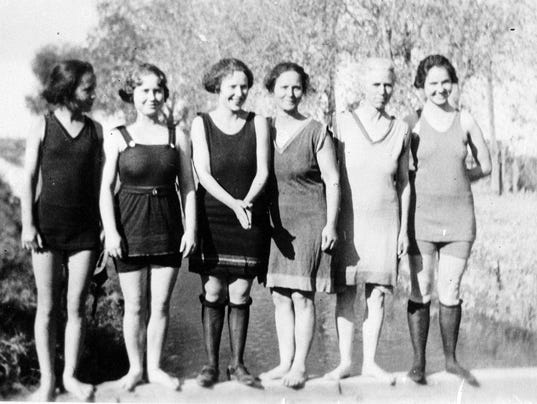 THEN: Swimsuits