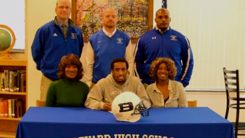 Brevard senior Anthony Benjamin has signed to play football for Brevard College.