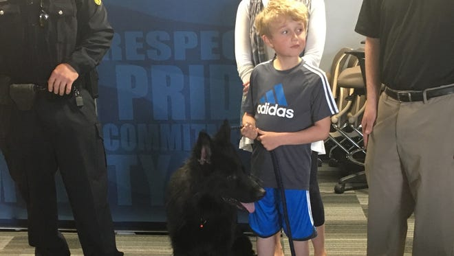 Ethan Engum, 7, started a GoFundMe campaign that raised $12,000 for a new police dog for the Green Bay Police Department. The new dog, Echo, recently completed its training for police work.