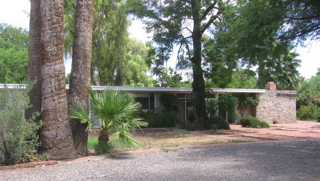 Gustav Kvapil's former home, describes as 'young southwest modern,' was built in the 1950s and is now for sale.