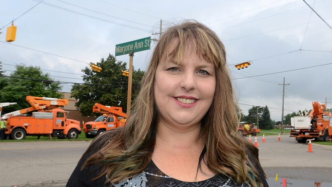 South Lyon business owner Tracey Hill worked hard to get a traffic signal put in at Pontiac Trail and Marjorie Anne Street.