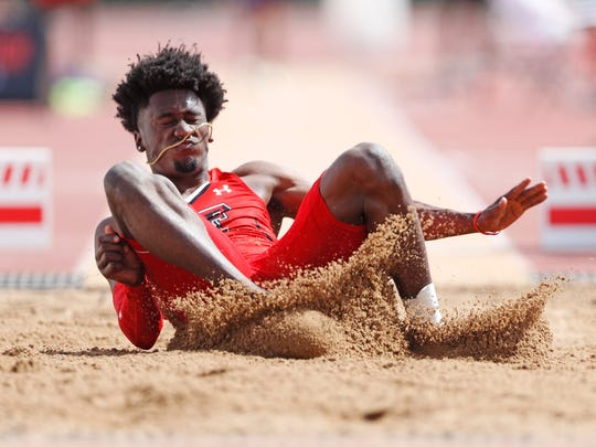 Texas Tech's Charles Brown looks to win a medal Wednesday in the long jump at the NCAA Outdoor Nationals.
