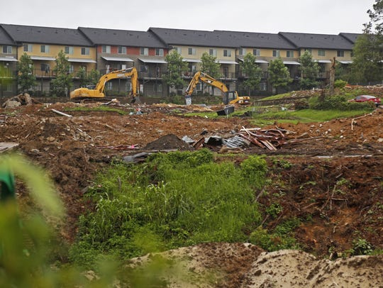 Construction is underway on the new Players Club Apartments