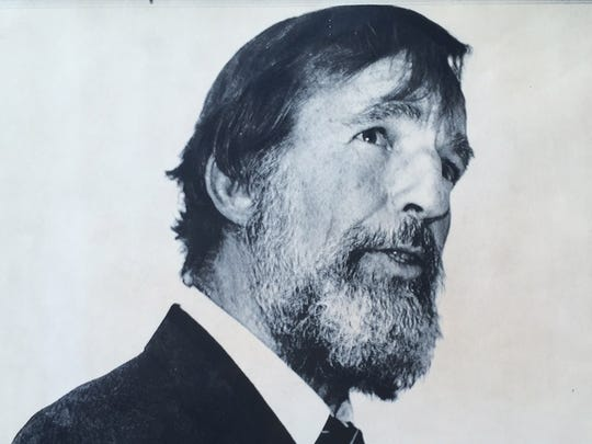 Famed writer and environmentalist Edward Abbey, seen