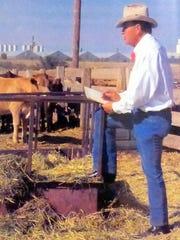 Kenneth Wyatt sketching ranch life.