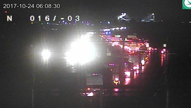 I-71 north is closed in Warren County on Tuesday morning