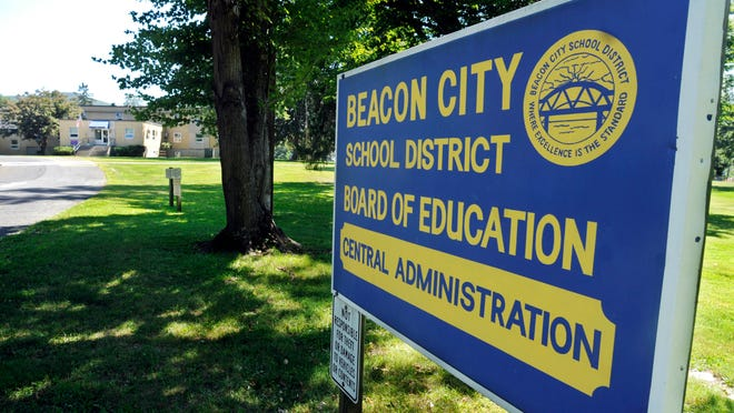 The Beacon City School District administration building at 10 Education Drive.