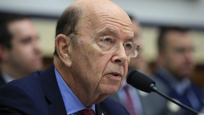 Commerce Secretary Wilbur Ross, testifies on Capitol Hill in Washington. Ross, one of the richest people in President Donald Trump's Cabinet, is questioning why furloughed federal workers are reluctant to take out loans to get through the government shutdown.