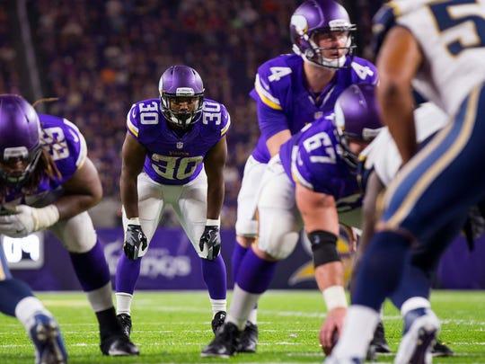Sep 1, 2016; Minneapolis, MN, USA; Minnesota Vikings