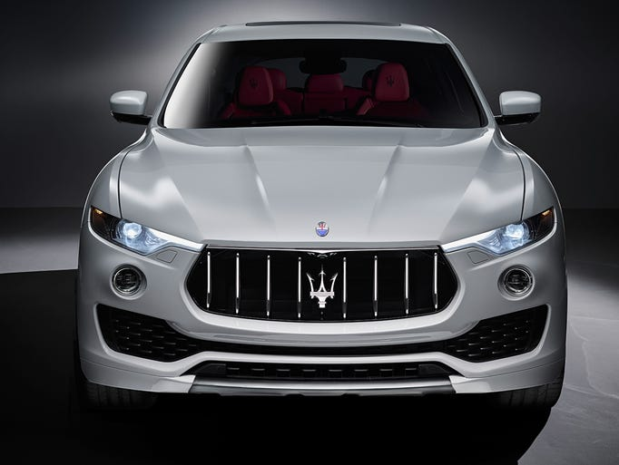 From the front, Maserati Levante has a distinctive