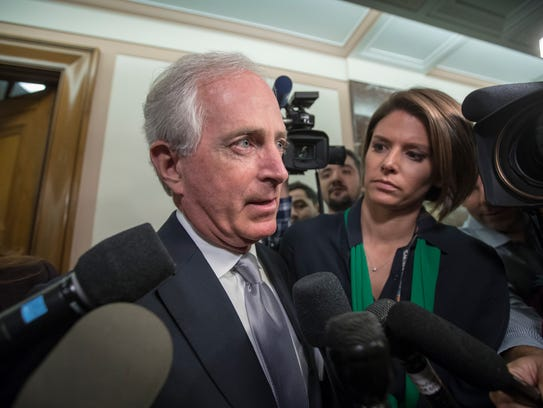 Sen. Bob Corker of Tennessee is one of a handful of Republican holdouts on the GOP tax reform plan.