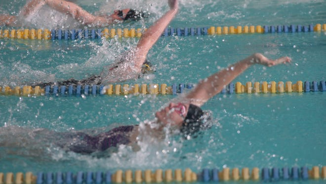 Swimmers compete in last year's Ironman meet at the Zeugner Center in Skyland.