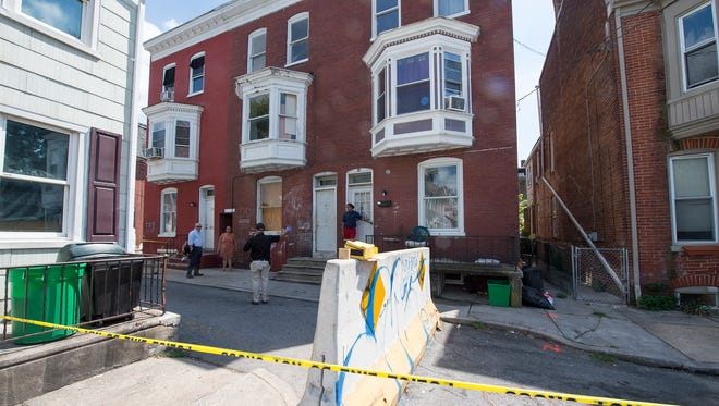 Police respond to a shooting at Cleveland Avenue and Lafayette Street in York.