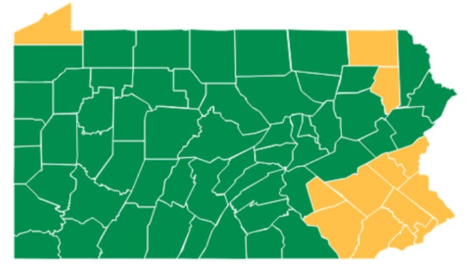 Most of Pennsylvania -- including Franklin County -- is now in the 'green' phase of COVID-19 reopening plan.