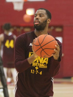Iona College basketball player Sam Cassel Jr. during practice at Iona College in New Rochelle Nov. 9, 2016