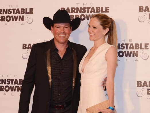 Clay Walker and his wife Jessica at the Barnstable-Brown Derby Eve Party. Friday May 2, 2014.