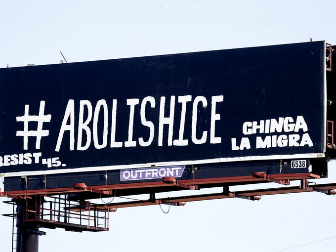 A billboard on the southbound side of 65 now reads