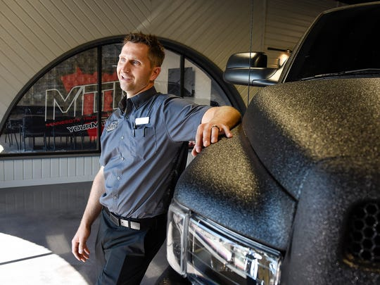 Denis Czech, general manager of Minnesota Truck Headquarters, talks about their new location on Minnesota Highway 23 shown Friday, Aug. 11, in St. Cloud.
