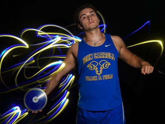 Jacob Hoeffner of John Carroll Catholic High School, all-area boys track and field finalist.