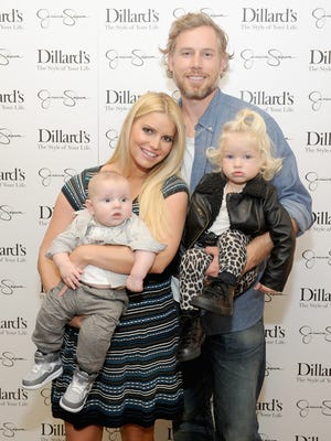 Jessica Simpson married Eric Johnson in Santa Barbara County, California, on July 5, 2014. The couple have been together since July 2010 and have two children together, daughter Maxwell and son Ace. This is the second marriage for both.