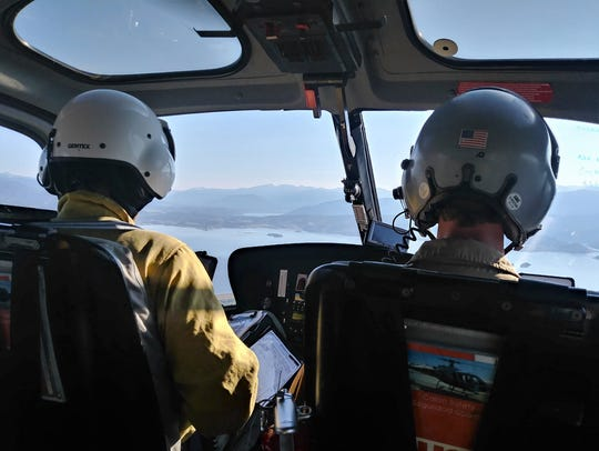 Search crews took to the sky on July 7 to look for