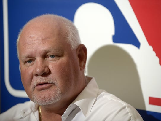 Minnesota Twins manager Ron Gardenhire answers a question
