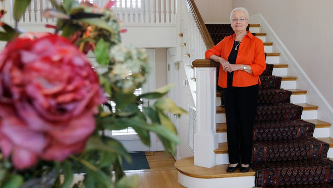 UTEP President Diana Natalicio stands on the stairway leading to the second floor of the Hoover House, which is in the historic Kern Place neighborhood. The Hoover House was donated to the university in 1965 by Louisiana Hoover, widow of local businessman Robert Thompson Hoover. The home was originally built in 1917 by former El Paso Mayor Richard Dudley. The home celebrated its 100-year anniversary and UTEP opened the home to El Pasoans for an open house June 3, 2017.