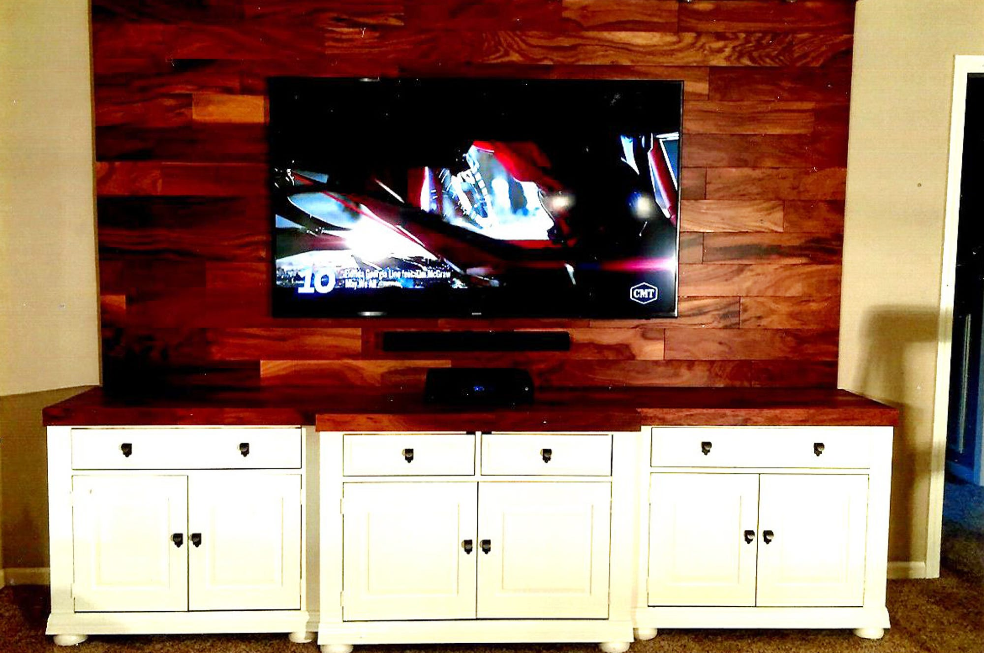Kenny Peek Transformed A Massive 20 Year Old Entertainment Center Unit,  Into This Contemporary Piece