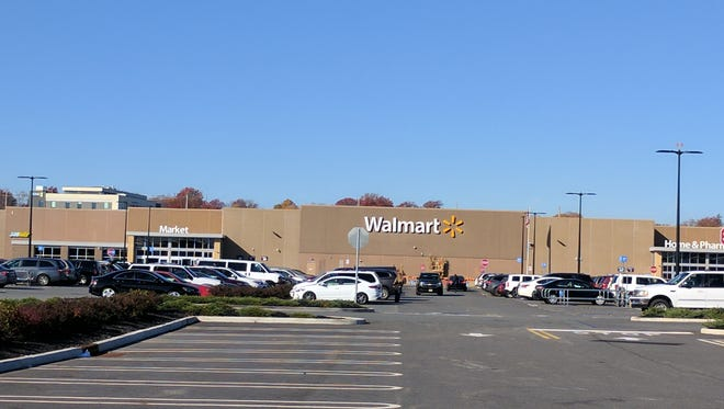 The Walmart store in Teterboro Landing, where a mother says her son was injured last year.