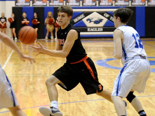 Nocona senior Marcus Carter stepped up as one of the Indians' leaders after they got off to an 0-2 start in District 8-3A play. Now they prepare to play in their first regional tournament since 1986.