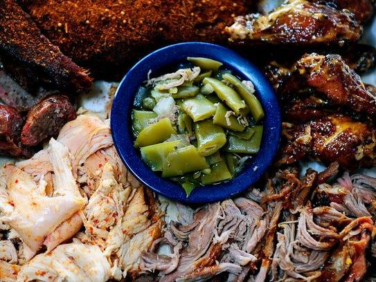 Ribs, beef brisket, chicken, smoked turkey and, of