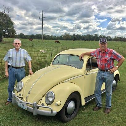 Dave Kucera and Sam Schaumann with Schaumann's 1957