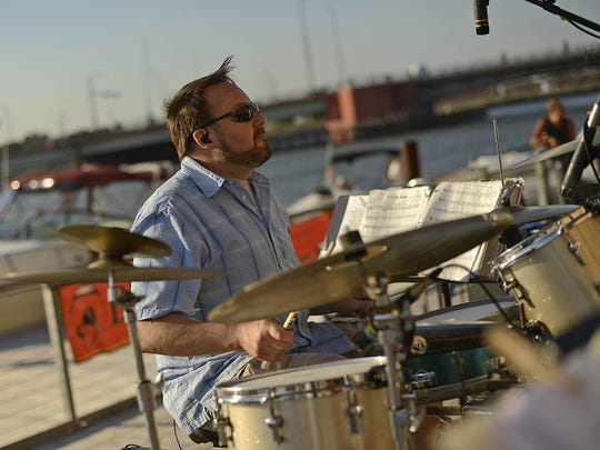 Drummer Brad Miller keeps the beat for Big Mouth & The Power Tool Horns.