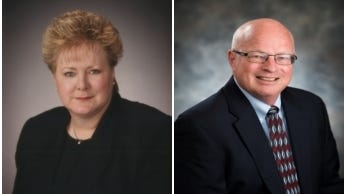 Patti Bruno and Mike Hutchinson are the East Valley Woman and Man of the Year