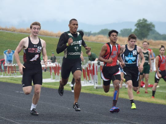 Wilson Memorial's competes in the boys 400-meter run