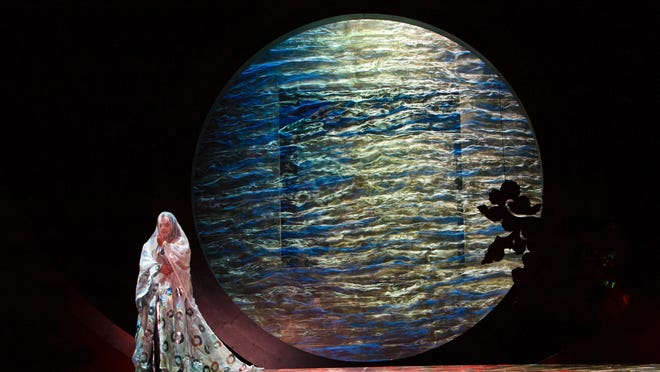 "A scene from ""Turandot,"" designed by Renaud Doucet and André Barbe."