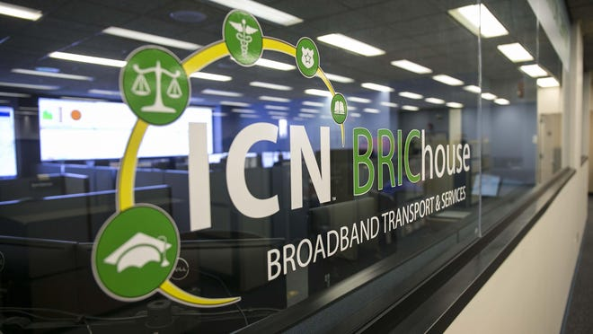 ICN's Broadband Information Center in the Grimes State Office Building, Des Moines, Iowa, Aug 7, 2015.
