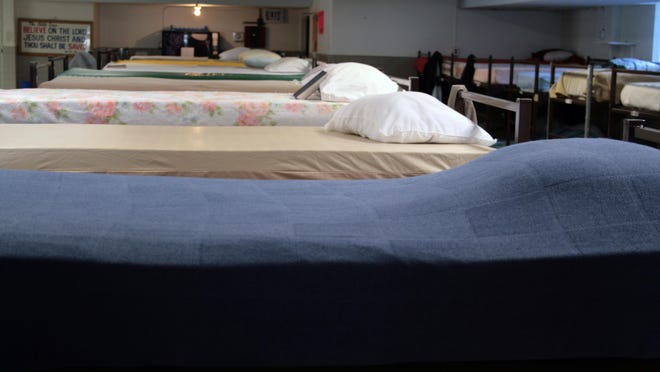 Empty beds at the Haven House are waiting for the homeless of Battle Creek to come and sleep and get out of the cold.