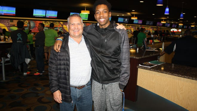 Daryle Zybert and Corey White at a Big Brothers Big Sisters event in May, 2017.