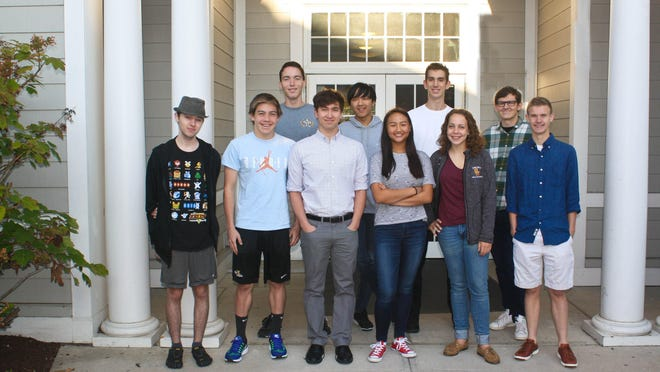 Seven Hills seniors, from left, Jonathan Harsh, Tindar Cyr, John Stewart, Nick Purple, Curtis Sun, Natalie Choo, Charlie Dwight, Mary Grace Ramsay, Bobby Kanter and Michael Barresi.