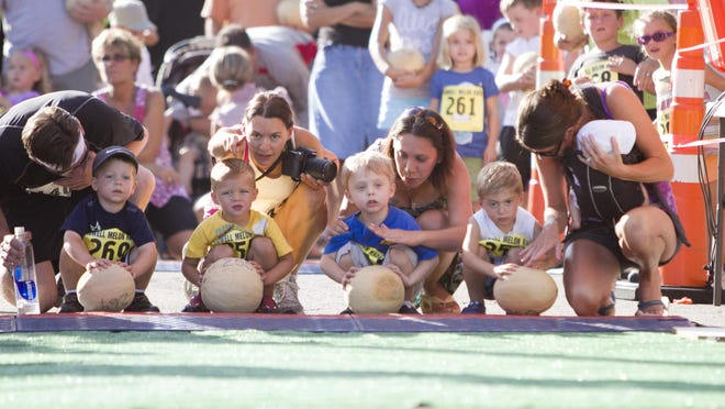 A traditional event at the Howell Melon Festival is the Melon Roll ages 2-5and begins at 6 p.m. on Friday, Aug. 17